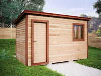 Деревянная постройка 4х2