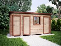 Деревянная постройка 5х2 три отделения