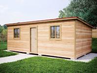 Деревянная постройка 7х4 распашонка