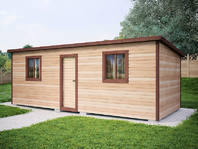 Деревянная постройка 7х3 распашонка
