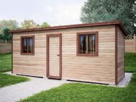 Деревянная постройка 6х2 распашонка