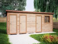 Деревянная постройка 6х2 три отделения
