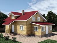 Каркасная пристройка к деревянному дому 6х3