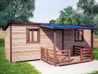 Бытовка с верандой 7х4 односкатная крыша