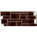 Фасадная панель Fine Ber камень коричневый