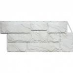 Фасадная панель Fine Ber камень крупный мелованный белый