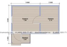 Одноэтажный домик 5х3 с навесом