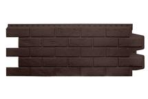 Фасадные панели Grand Line состаренный кирпич стандарт коричневый
