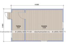 Дачный домик 6х3.8
