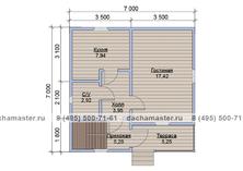 Двухэтажный дом 7х7