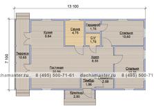 Одноэтажный дом 13х7