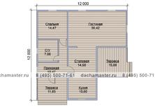Дачный дом 12х12