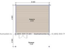 Гостевой домик 6050 с верандой