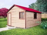 Каркасный хозблок 5х4 двухскатная крыша
