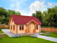 Небольшой домик с мансардой 8х6