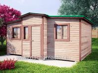 Летний домик 6х4 деревянный