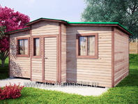Дачный домик 6х4 деревянный