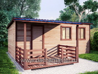 Каркасный домик 6х4 с навесом