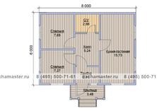 Одноэтажный дом 8х6