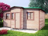 Каркасный домик 6х4 деревянный