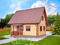 Дом с крыльцом 8х6