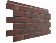 """Фасадная панель Docke """"Berg"""" кирпич коричневый"""