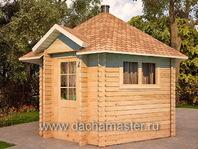 Одноэтажный гриль домик